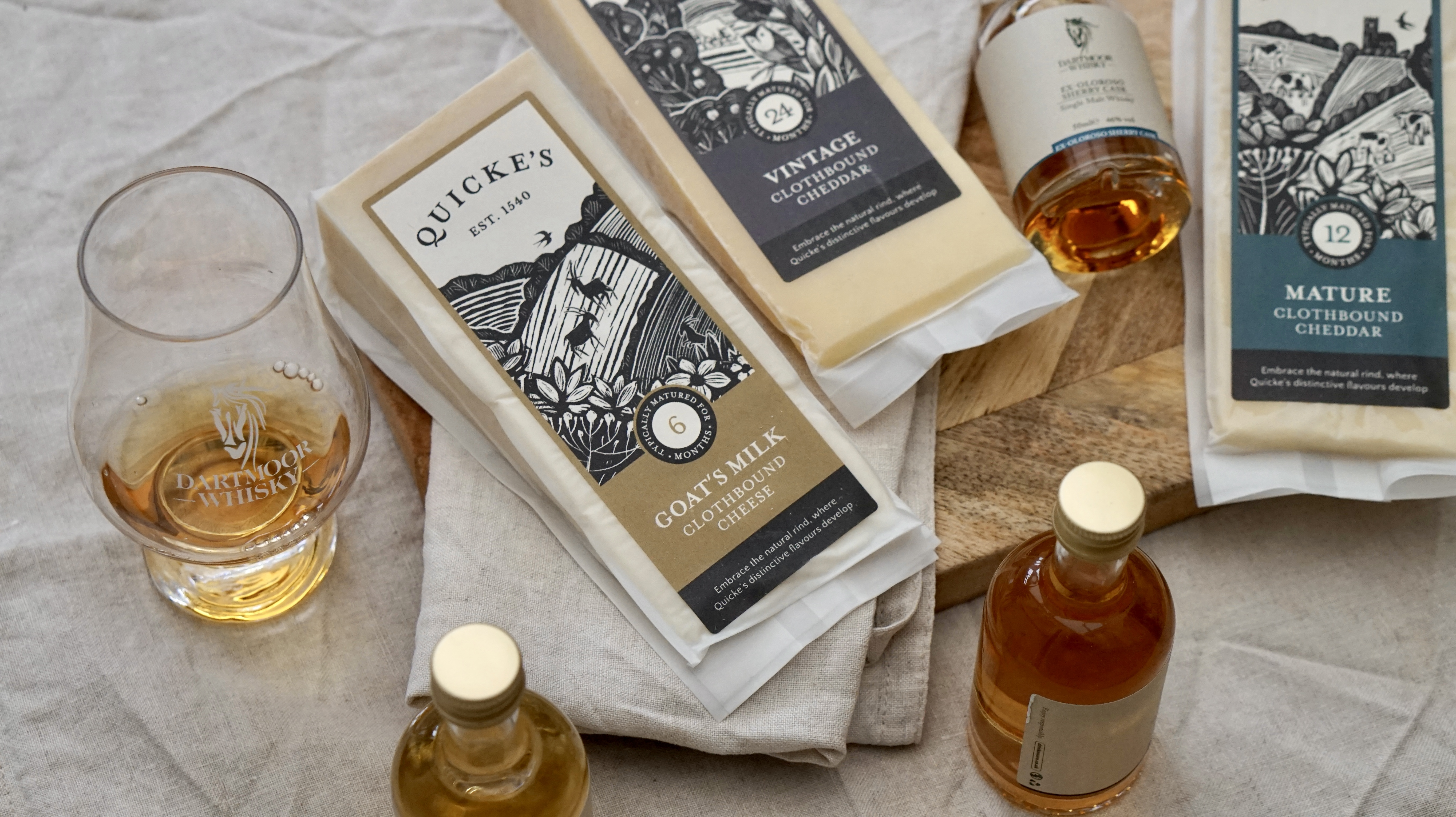 Pairing: Quicke's Clothbound Cheese & Dartmoor Whisky Single Malt